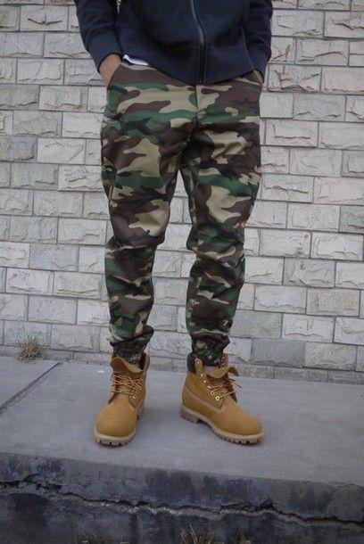 camo pants joggers menswear mens pants