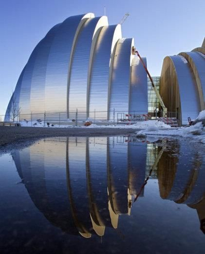 Kauffman Center for the Performing Arts, Kansas City, Missouri, designed by Moshe Safdie...