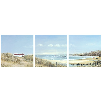 Coastal set of 3 canvas prints JL