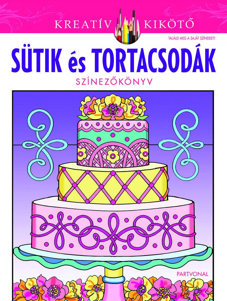 Eileen Rudisill Miller:Sütik és tortacsodák A kreativitás betört a sütemények birodalmába, majd az ügyes kezek a színezők világát is meghódították! A színezőkönyvet a sütemények megszállottjainak ajánljuk – és azoknak, akik szeretik a manuális foglalatosságokat… Piték, linzerek és muffinok, szédületes esküvői és születésnapi édességek – Még a Tortakirály, Buddy Valastro sem tudna  ellenállni a kísértésnek!  #Partvonalkiadó, #könyv #felnőtt színező #coloringbook #BuddyValastro #Tortakirály