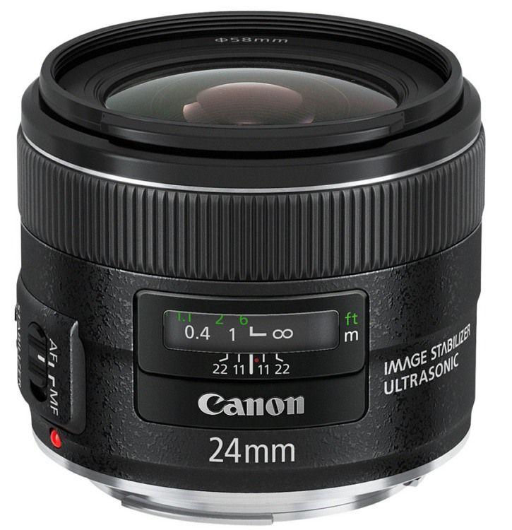 Где купить объектив Canon EF 24mm f/2.8 IS USM. Цены на объектив Canon EF 24mm f/2.8 IS USM.