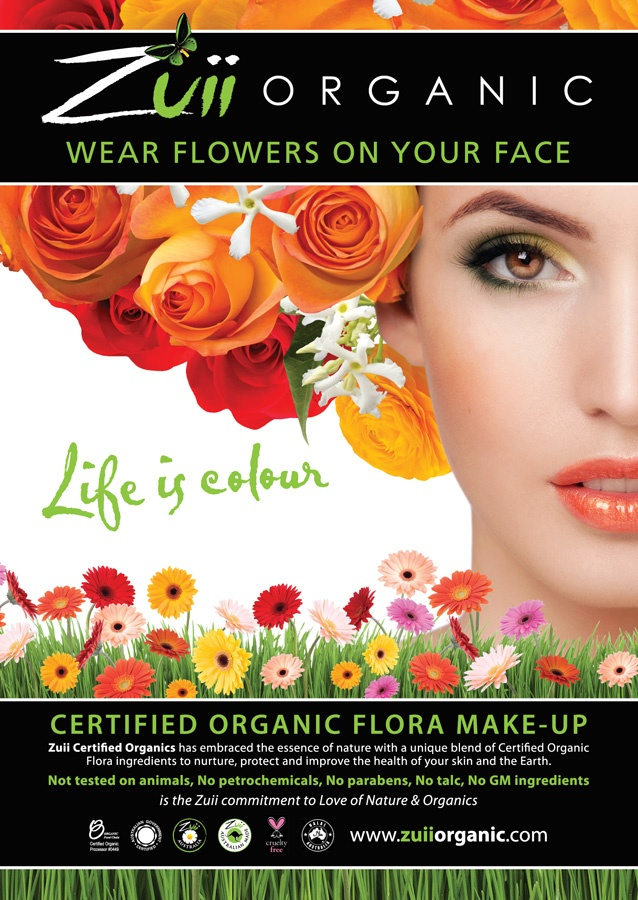 Zuii Organics The Apothecary now has new shades for Spring.   100% FDA approved organic cosmetic. Wake up with Flowers on your Face.