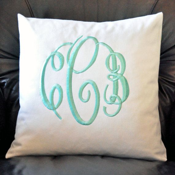 Lilly Pulitzer 18 x 18 Monogrammed Pillow by LillysShopDotCom, $45.00