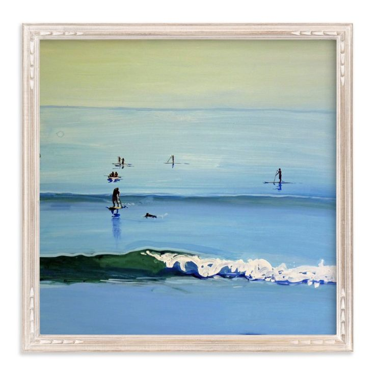 """""""PaddleBoarders, Malibu 2011"""" - Art Print by Annie Seaton in beautiful frame options and a variety of sizes."""