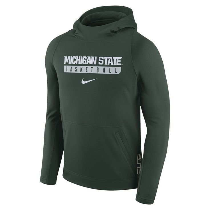 Men's Nike Michigan State Spartans Basketball Fleece Hoodie, Size: Medium, Green