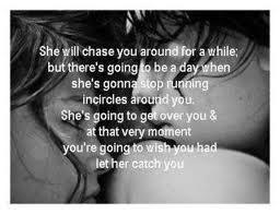 let her catch you