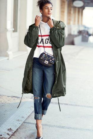 Lässige Jeans mit Knierissen, mittelblau heute online kaufen bei Next: Deutschland