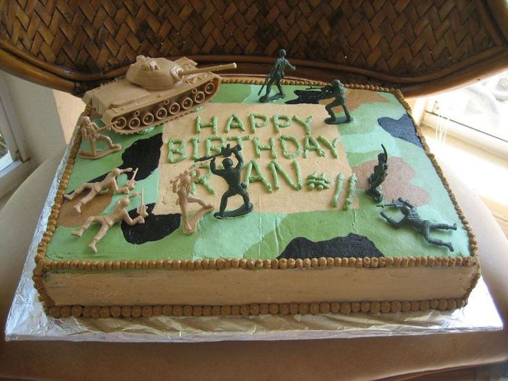 Camouflage Army Cake on Cake Central