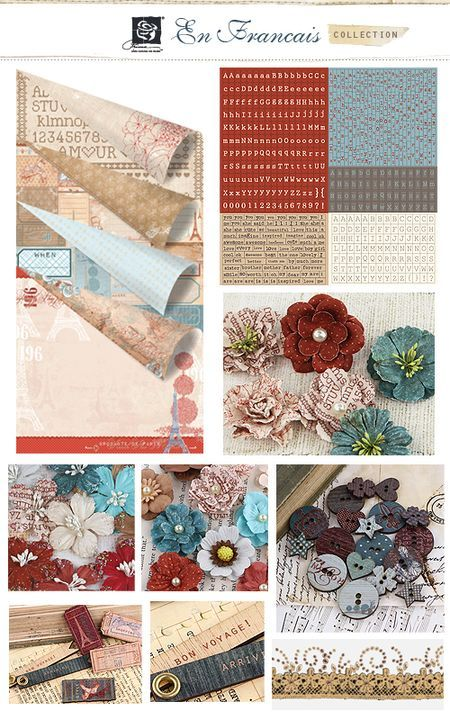 En Francais Collection from Prima. The papers are not really my cup of tea, but the flowers are gorgeous!