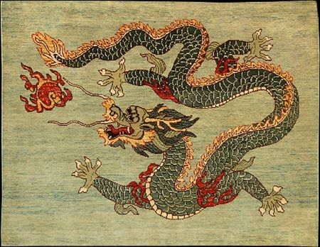 Chinese dragon, animal rug 11 - 12 Wacky Animal Rugs and Critter Carpets