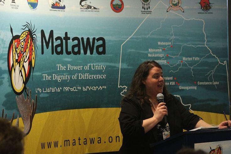 Matawa environmental program manager Sarah Cockerton #tbay