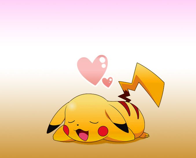 Pikachu sleep - Google Search Sooo cute <3 want on my right shoulder, with a pokeball