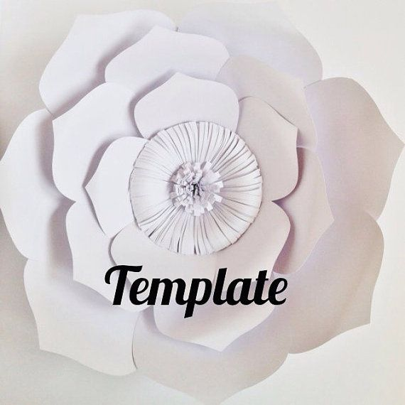 paper flower template diy paper flower by apaperevent on