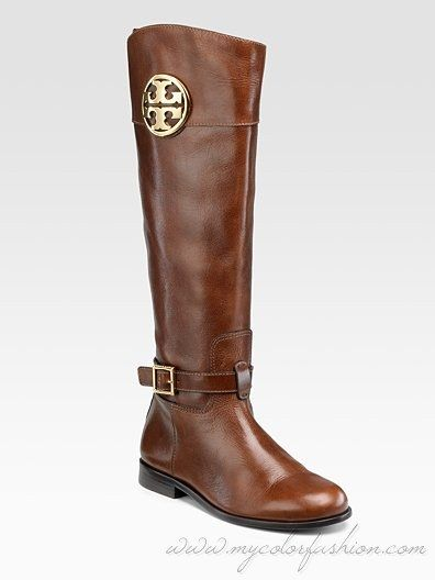 Added these to my Fall wardrobe today!   tory burch boots | Tory Burch Patterson Riding Boots - My Color Fashion