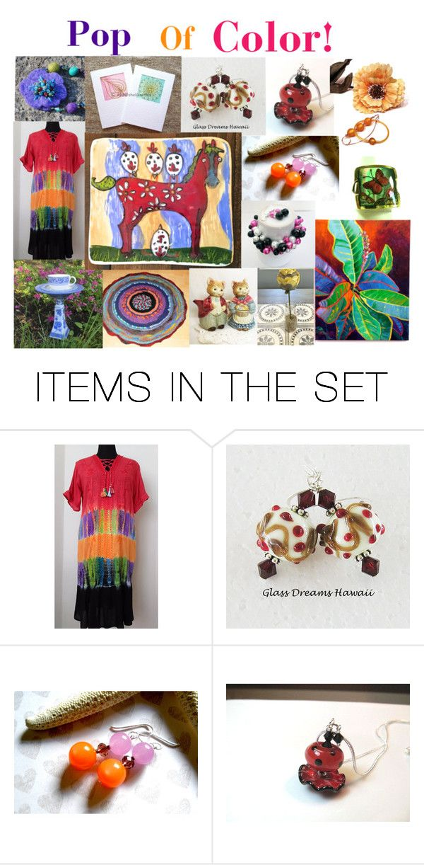 """""""Pop Of Color!"""" by glassdreamshawaii ❤ liked on Polyvore featuring art and vintage"""