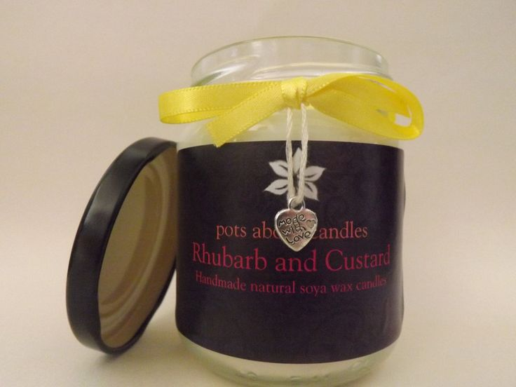 Rhubarb and Custard Scented Candle