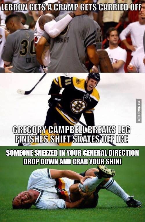 Hockey vs. Basketball vs. Soccer