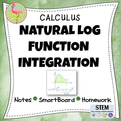 Students will use The Log Rule to integrate rational functions. Examples include change of variables and dividing before integrating. There are no trigonometric functions in this lesson. The lesson includes:    ♦ Guided Notes handout    ♦ Fully-editable SmartBoard presentation    ♦ Homework assignment    ♦ Completed set of notes    ♦ Full solutions