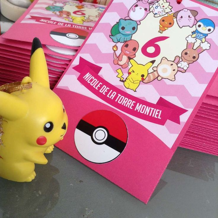 Pokemon / pink Birthday Party Ideas | Photo 2 of 11 | Catch My Party
