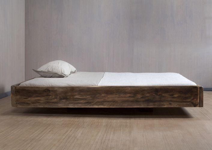Schwebendes Bauholz Bett Shabby Chic | Suspended lumber bed Shabby Chic