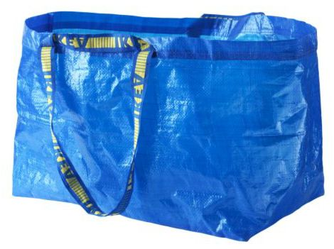 Ikea blue bag only $0.59 and are folded up tightly. Would be great for OCC boxes. Including some sort of bag is a great idea; we all get so many freebies; why not put one in a shoe box?