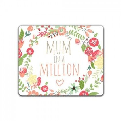 """Mum in a Million by OrangeOwl   Mum in a Million"""" floral, typographic art. Bold, bright and modern - perfect for a Mother's Day / Birthday / Surprise Gift"""