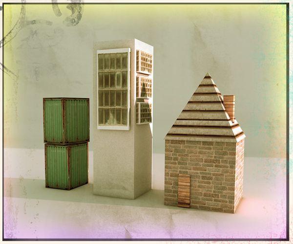 Various 3D Illustrations by Chris Manfre, via Behance
