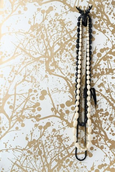 Ferm Living Shop — Wilderness Wallpaper - Gold perfect for my bathroom, minus the pricetag