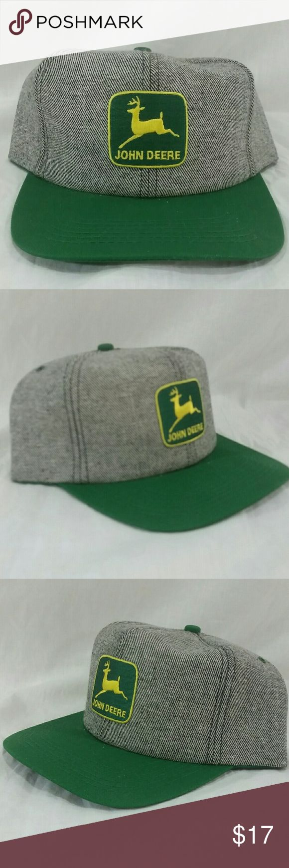 John Deere Denim Snapback Hat Like new.  Awesome addition to your closet or collection John Deere Accessories Hats