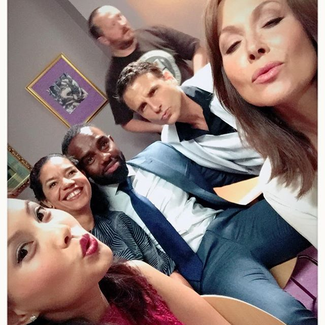 Are you all ready for #Casualty at 8.25 tonight? We are all pouting for our Duffy. Come on Charlie!! #pout #shenanigans #casualty #lovemyjob #lovemyfriends #posers