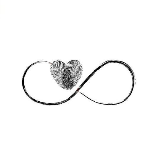 Finger print infinity symbol tattoo idea for couples. ❤️ | livelove-kawasaki.tumblr.com