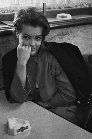 Romy Schneider On the set of Le Procès.