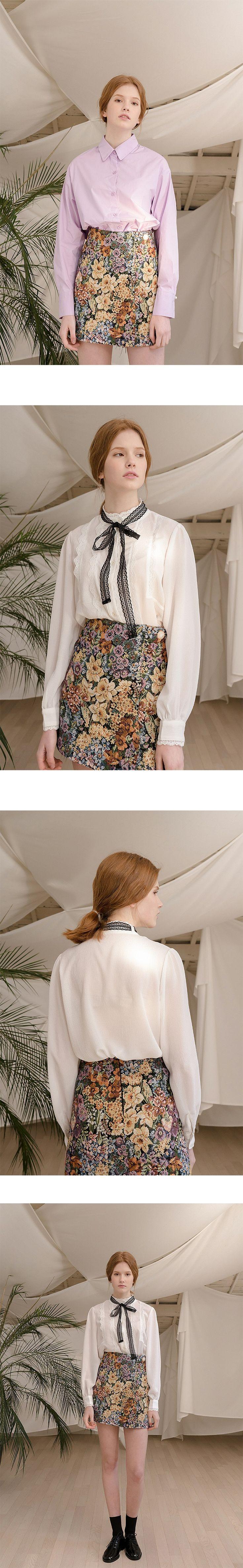 MONTS Monts600 Floral Jacquard Skirt