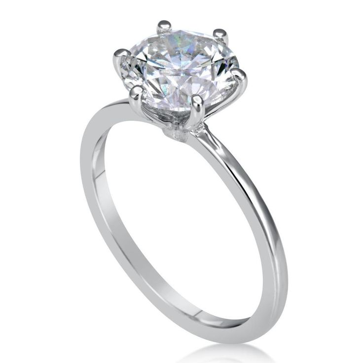 1.50 Ct Round Cut Diamond Engagement Ring 14K White Gold Solitaire Size I J K L M N 3r36cAVO3L
