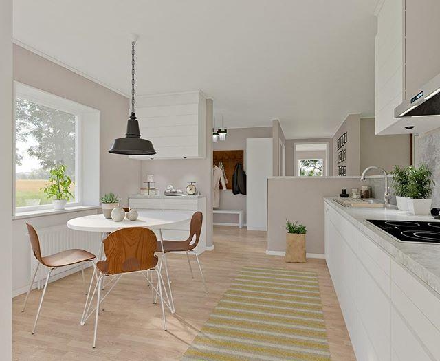 Kök och hall i Villa Fredriksdal #smålandsvillan #villafredriksdal #nybyggnation #byggahus #matplats #kök #hall #husdrömmar #inspiration #interior123 #smalandsvillan #skönahem #instahome #interiör