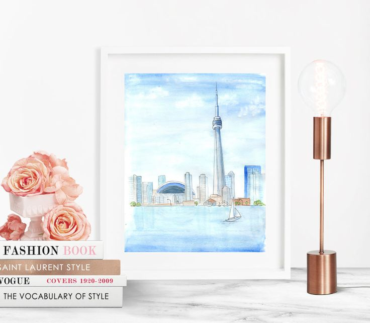 """Toronto Summer in the City - Prints - 8""""x10"""" - Various Sizes - Wall Art - Gifts for Her - Gifts for Him - City Life - Canada - CN Tower by KristinaHerediaArt on Etsy"""
