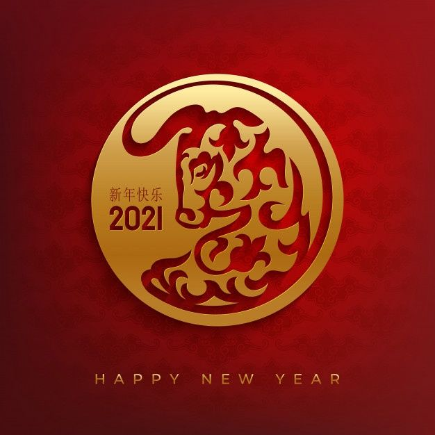 Happy Chinese New Year 2021 Greeting Card With Bull Head Happy Chinese New Year Chinese New Year Card Chinese New Year Greeting