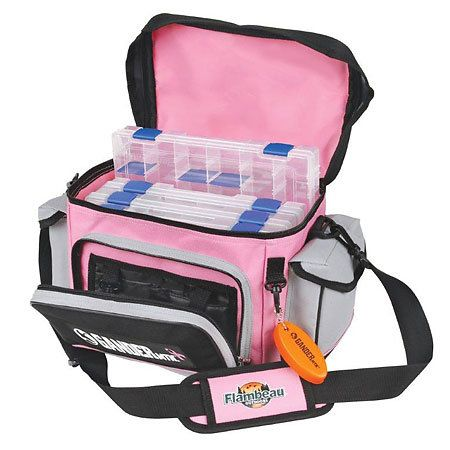 I am completely in love with this Gander Mtn. Pink Tackle Bag. I always find a way to make fishing a girly sport. :]