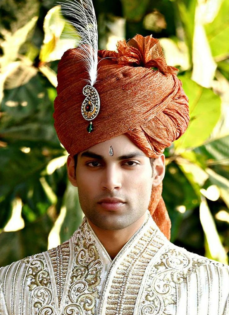 india turban | Ethnic Rust Turban - Turbans - Men