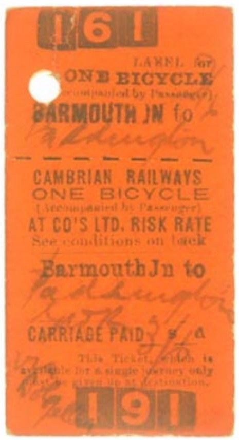 Cambrian Railways Ticket Barmouth Jn to Paddington - Bicycle FOR SALE • EUR 10,43 • See Photos! Money Back Guarantee. SE 3 10 - Good used condition If buying more than one ticket please await a combined postage invoice Your surplus tickets purchased - contact me 162218520417