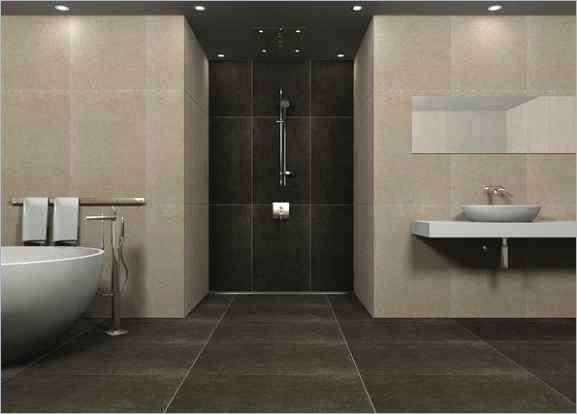 Innenarchitektur Badezimmer Badezimmer Fliesen Braun Architektur