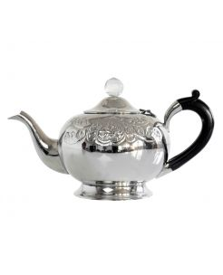 Ornate Silver Teapot.This Beautiful Silver effect Teapot with Diamond Top is the Best selling tea pot in our Avoca stores.