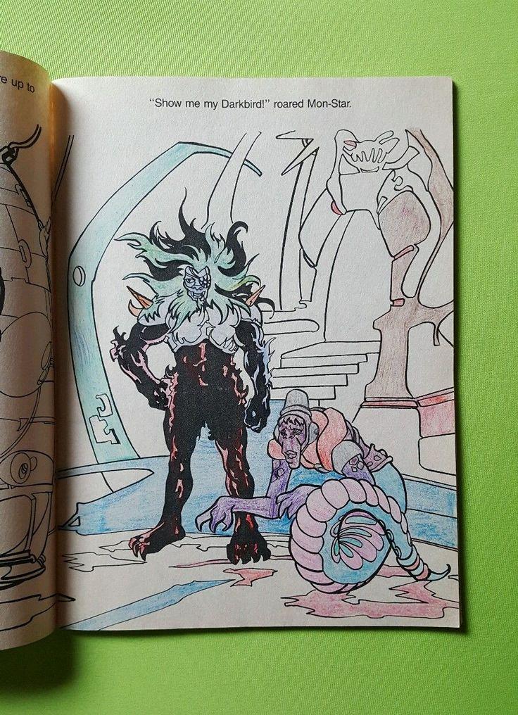 Vintage 1987 Happy House Coloring Book SilverHawks Darkbird Adventure To Color