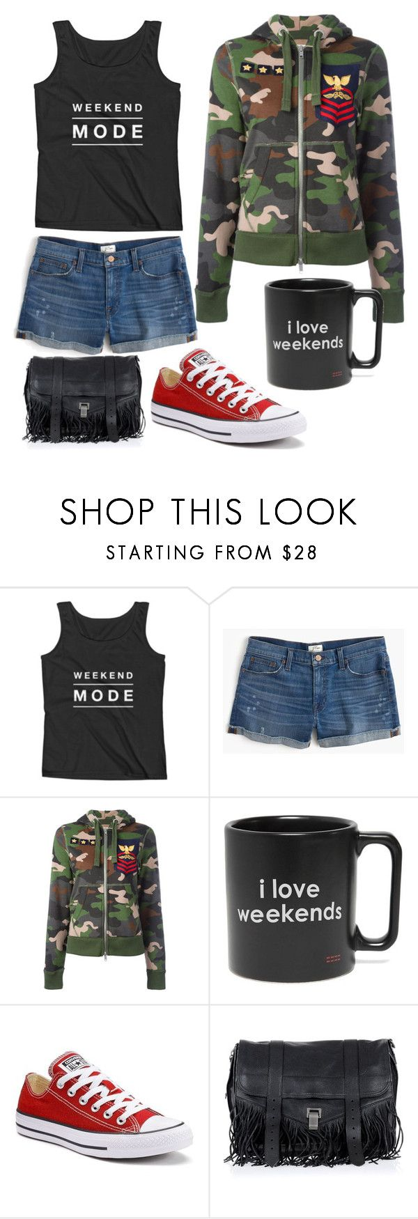 """""""Weekend mode"""" by mydreamingcloset ❤ liked on Polyvore featuring J.Crew, History Repeats, Peace Love World, Converse, Proenza Schouler and weekend"""