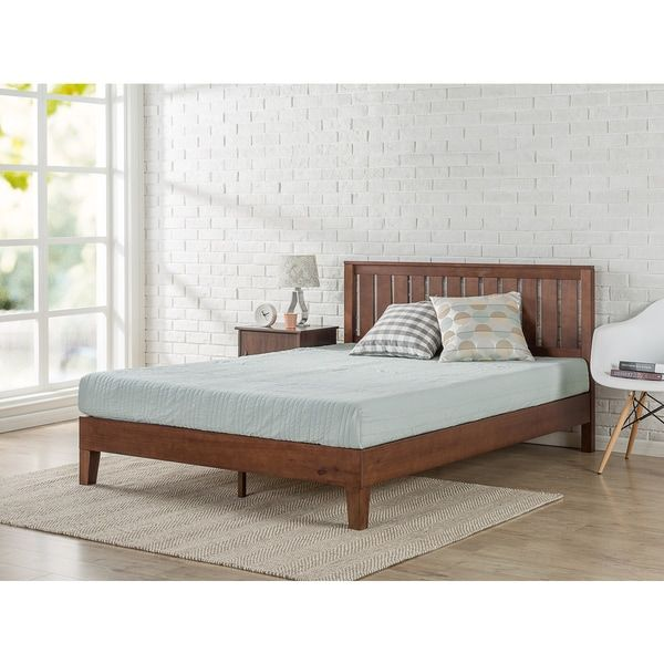 Fresh Priage Deluxe Antique Espresso Solid Wood Platform Bed With Headboard For Your House - Modern bedroom sets with mattress Modern