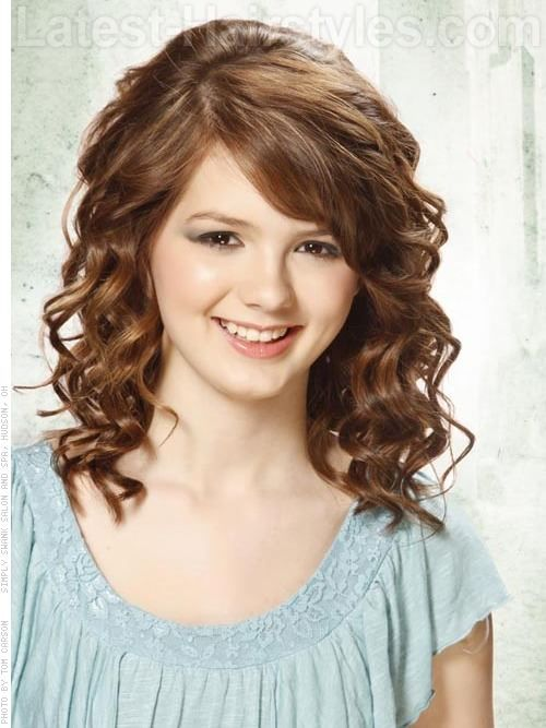 Curly Hairstyles with Bangs | Low Maintenance Hairstyles For Girls With Curly Hair | Latest ...
