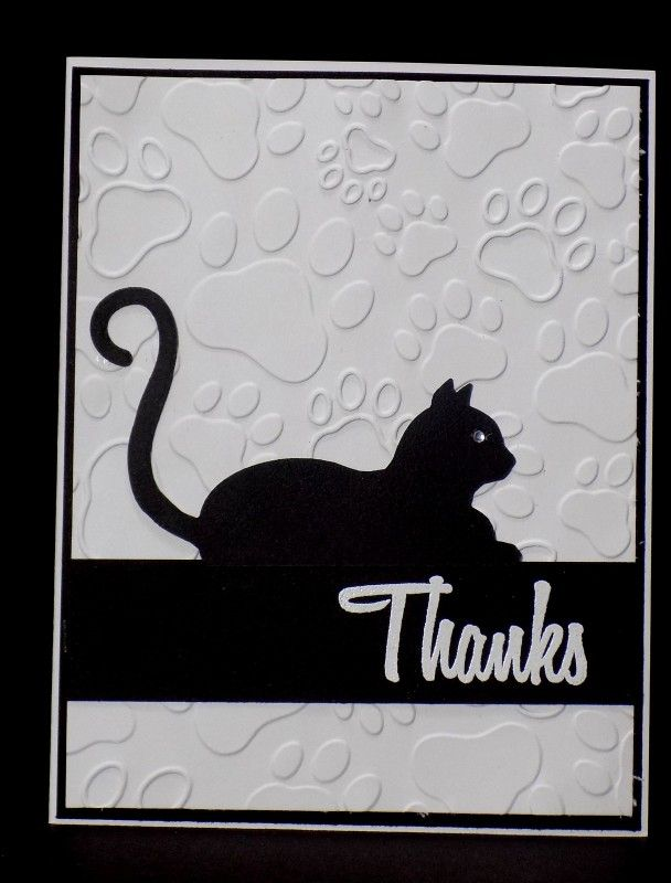 ff16cakath kitty thanks  cat cards handmade cards