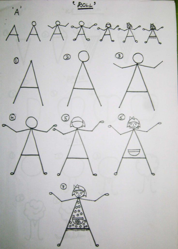 how to draw the letter n