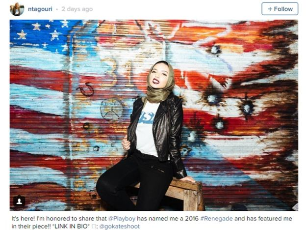 Noor Tagouri wartawan berhijab dalam majalah Playboy   MAJALAH Playboy adalah sebuah majalah dewasa yang terkenal dengan foto-foto wanita yang kurang menyenangkan malah amat tidak bersesuaian untuk golongan bawah umur serta masyarakat Islam. Namun begitu wartawan Amerika Syarikat Noor Tagouri telah mengubah semua itu selepas tampil dalam penerbitan majalah berkenaan edisi Oktober yang dipanggil Renegades dengan penampilannya berhijab.    Noor Tagouri wartawan berhijab dalam majalah Playboy…