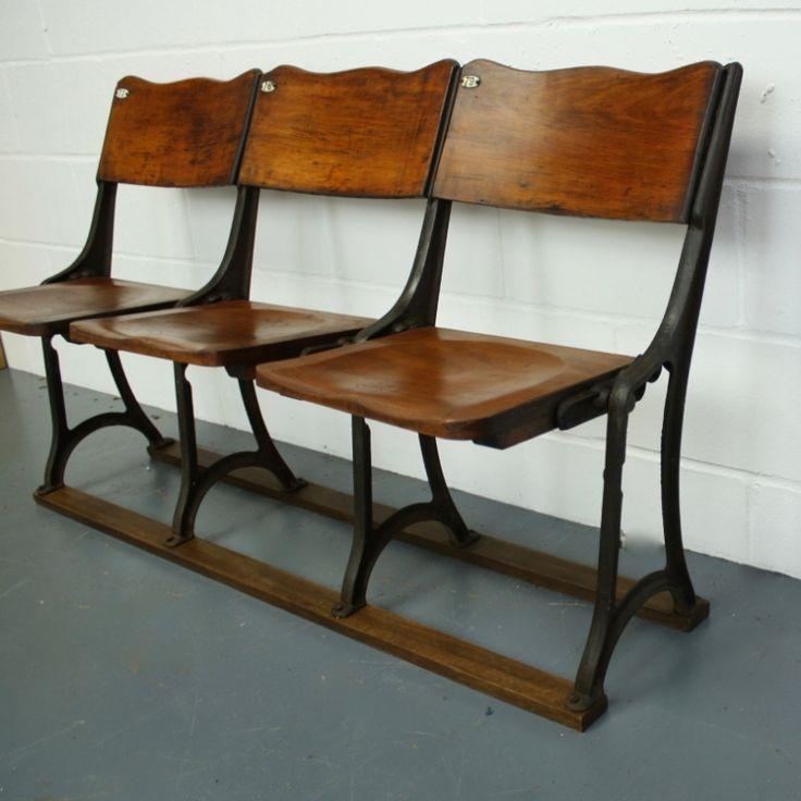 Victorian / Edwardian Folding Theatre Seats